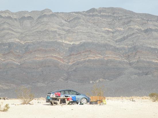 Eureka Dunes : our camp spot
