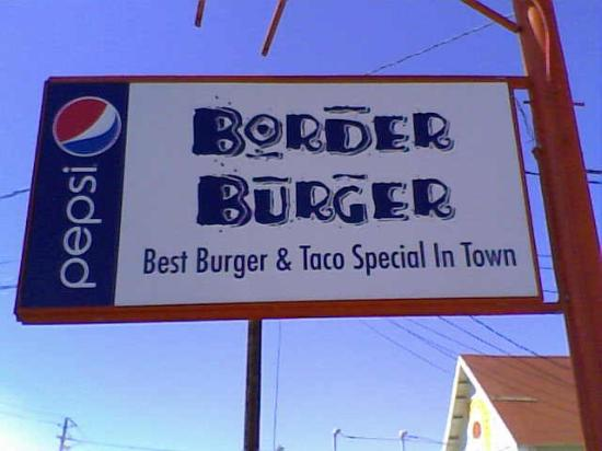 Border Burgers: new sign - March 2012