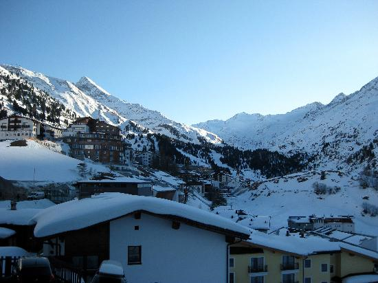 Hotel Alpenaussicht: view from the terrace as the sun sets