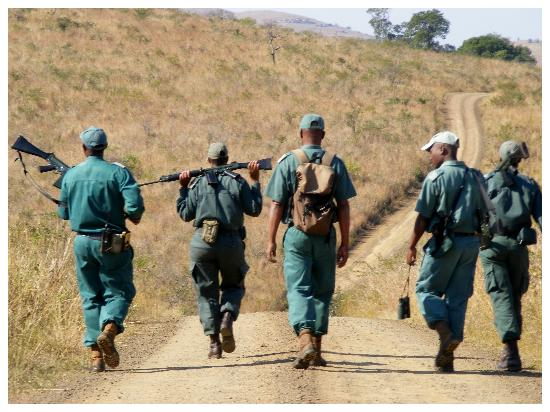 Hilltop Camp: Rangers were out on patrol for poachers
