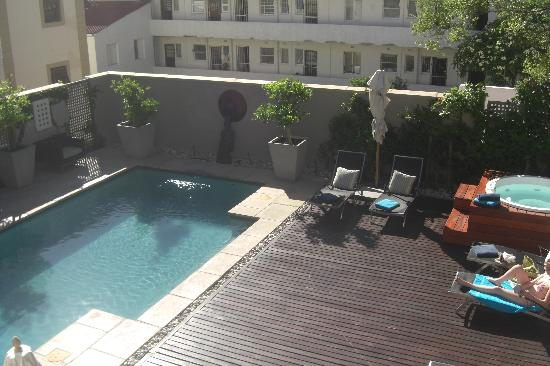 Derwent House Boutique Hotel: Pool deck from our window