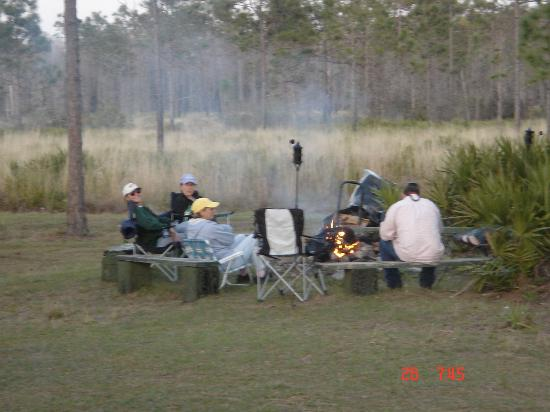 Nature Speaks horseback camping adventure at Forever Florida campfire