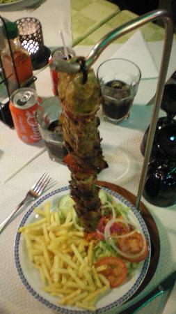 "O Colonial Restaurante: Black pig kebab ""what a beauty"""