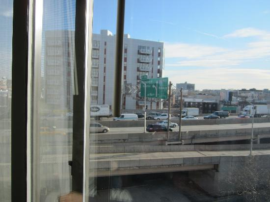 Hotel Le Jolie: view from our window... not an amazing view of Manhattan, but so New York lol