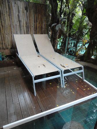 The Baray Villa: private area outside our villa