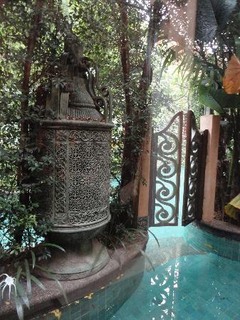 The Baray Villa: private pool outside our villa leading to main villa pool