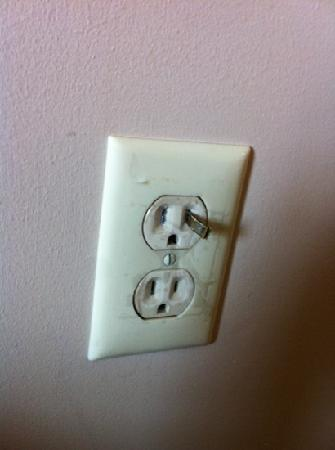 The Suites at Hershey: They think tape over the sockets makes it safe. This is what 2 of the plug ins looked like in th