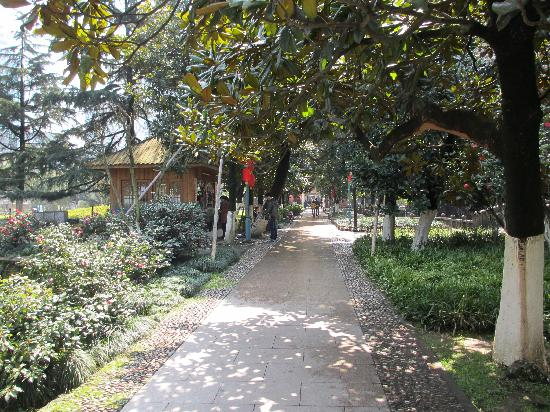 Wenzhou Zhongshan Park: Walkway in the center of the Park