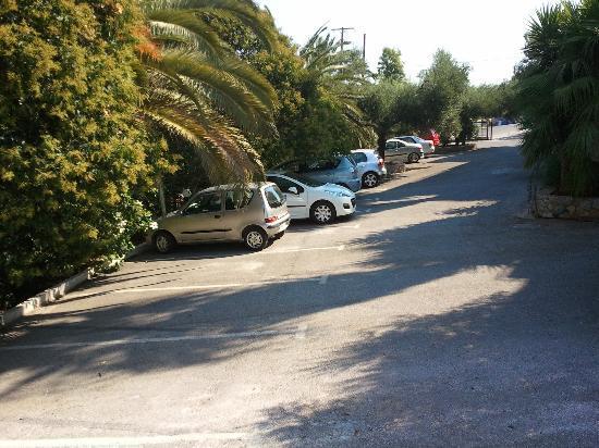 Monte Vardia: the parking