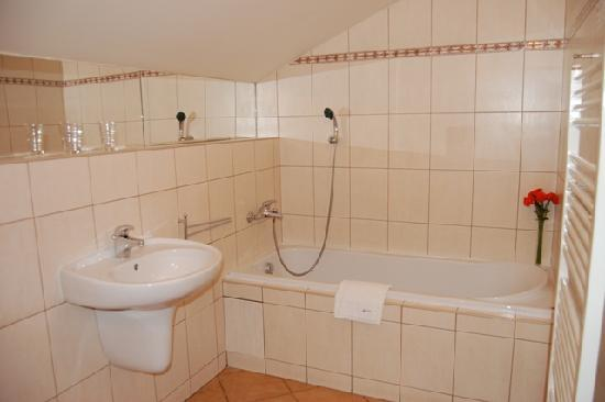 Alpin Avion: Bathroom with bath
