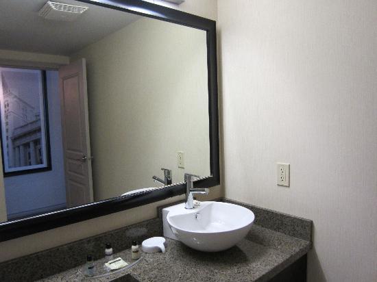 Hotel Bathroom Sink : Sandman Hotel & Suites Winnipeg Airport: Bathroom sink area