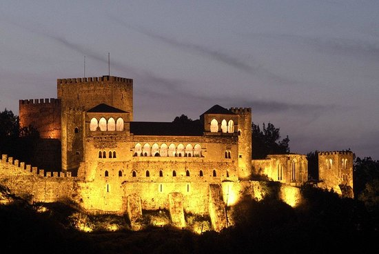 Leiria Castle by nightfall