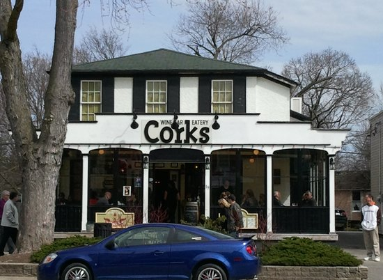 Corks Restaurant : Front view of Corks in Niagara-on-the-Lake