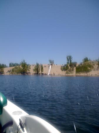 Edgewater Family Campground: view of the dunes from the water