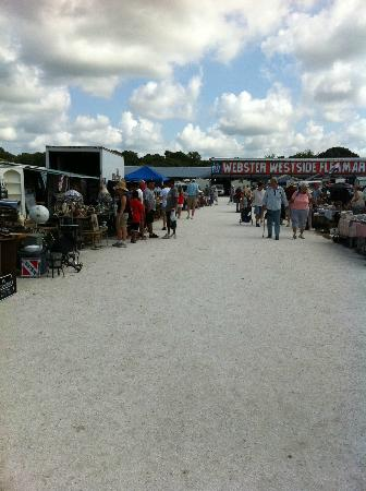 Webster, FL: Long rows of vendors selling a variety of goods