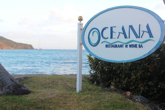 Oceana: Front Sign with Ocean