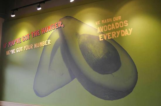Togo's Great Sandwiches - Biddle Road : Togo's Wall - Avocados!!
