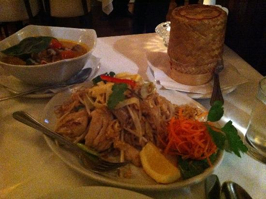 Thai Brasserie: Roasted Duck Curry with Sticky Rice and Pad Thai