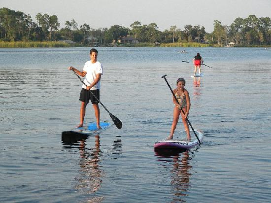 Paddleboard Orlando: Kids can SUP too!  As long as your child is a good swimmer they can join us for a private tour.