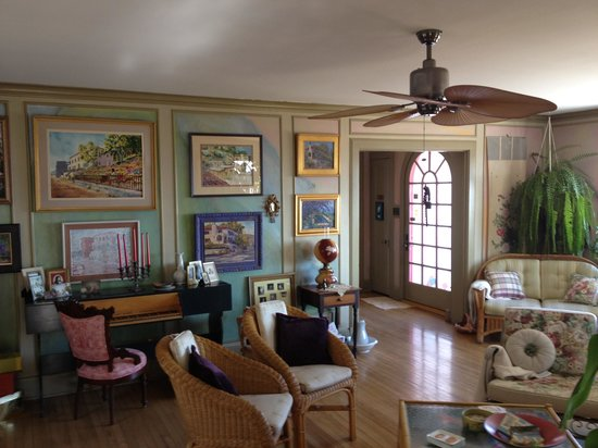 Surgeon's House: Living room (paintings are of the house!)