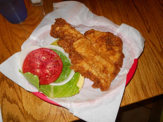 Dockside Dave's: Beer battered fried Grouper Sandwich