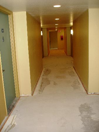 Best Western Gardens Hotel at Joshua Tree National Park : Hallway under rennovation