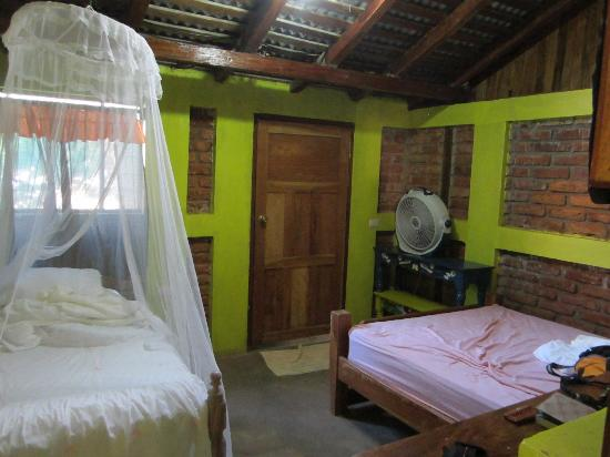 Hacienda Merida: downstairs room, much smaller than the upstairs room!