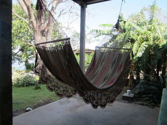 Hacienda Merida: There are lots of hammocks to lounge in after a long day hiking the volcano!