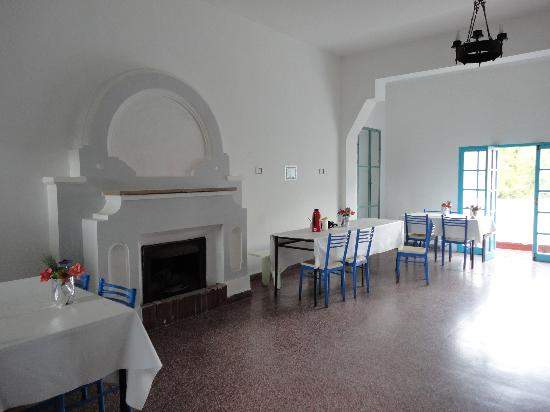 Hostel Pinamar: Parte del comedor..