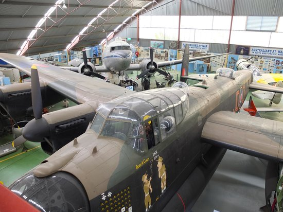 Aviation Heritage Museum: Aircrafts inside the exhibition hangar