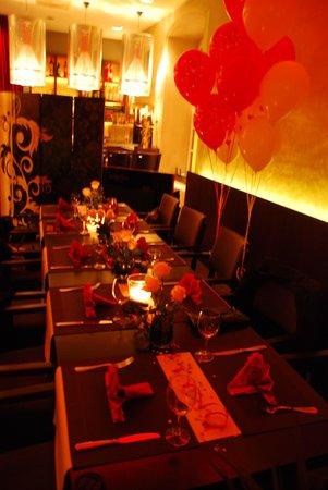 Restaurant C Five: unser Geburtstagstisch :)