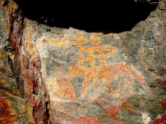 Winding Waters River Expeditions & Day Tours: Hells Canyon pictograph - Nez Perce
