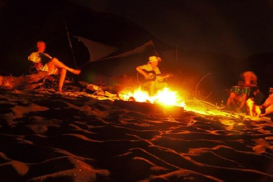 Winding Waters River Expeditions & Day Tours: Evening campfire - Salmon River
