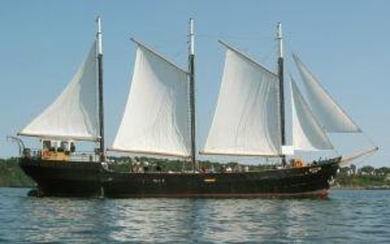 Tall Ship Silva Inc: Morning full sails on Silva
