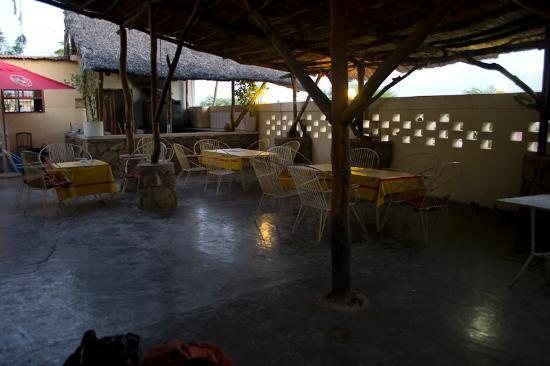 Tete, Mozambique: The restaurant / bar area