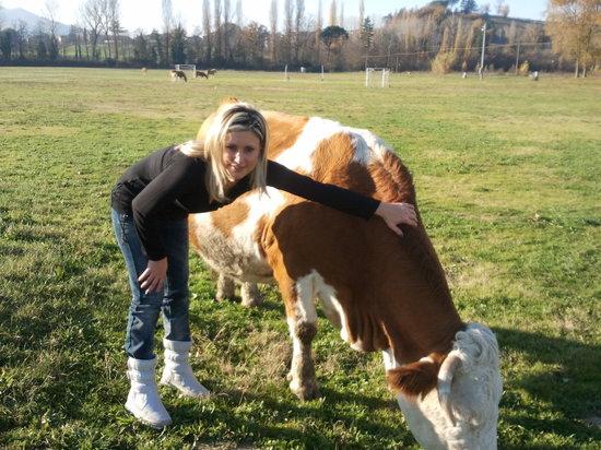 Agriturismo I Due Mondi: ..Patrizia e la mucca Carolina