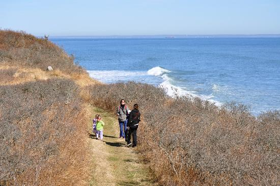 Clay Head Trail. A Greenway trail on Block Island.