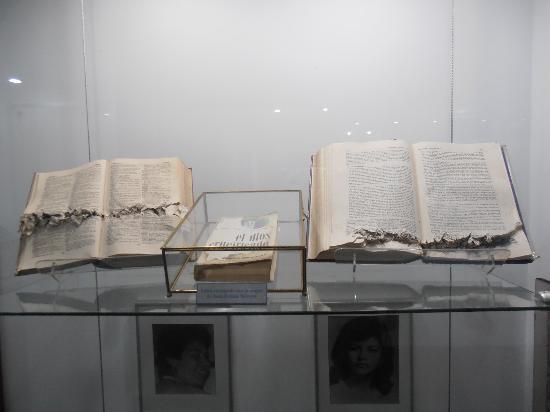 Centro Monsenor Romero: bullet ridden bible