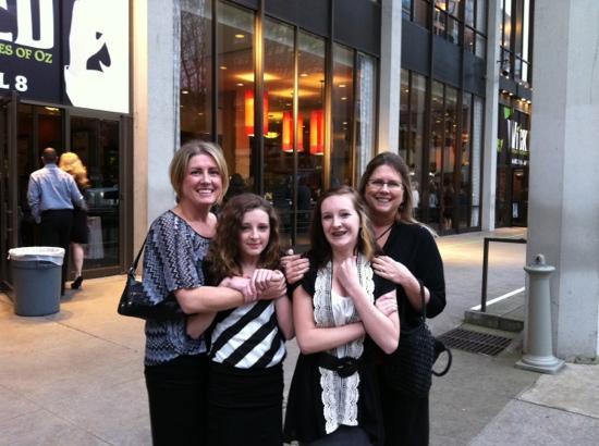 Keller Auditorium: granddaughter's first broadway play