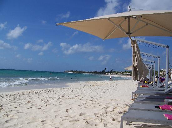 Paradisus Playa Del Carmen La Esmeralda : beach umbrellas & lots of chairs