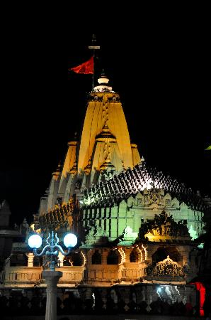 Somnath, Indie: Beautiful Temple in Night