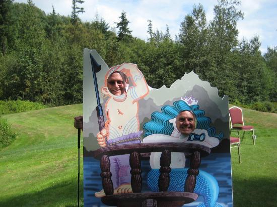 Bob's Chowder Bar & BBQ Salmon: Pirate or mermaid?