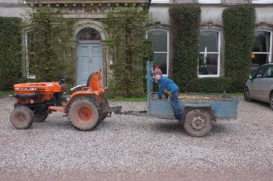Tractor ride at Ballyvolane House