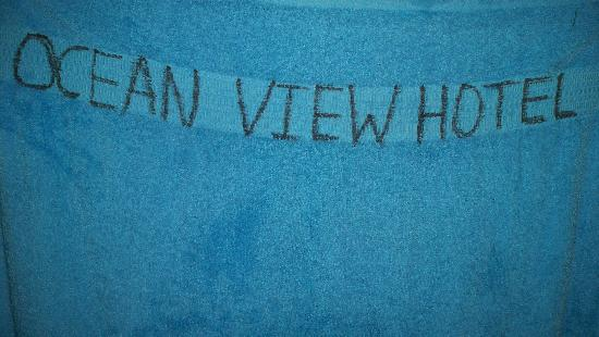 Vieques Ocean View Hotel: towels written with markers