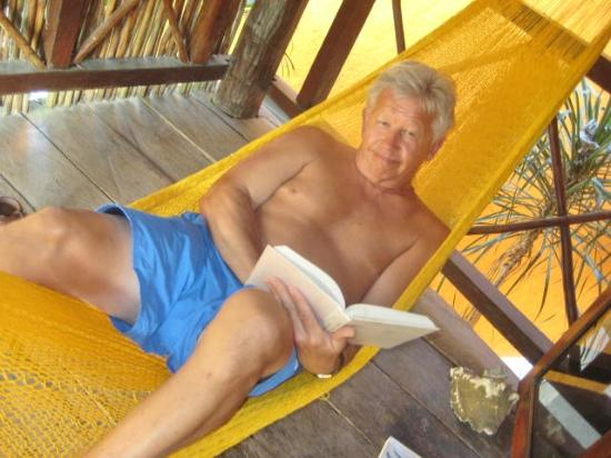 Uolis Nah: Peter on balcony hammock
