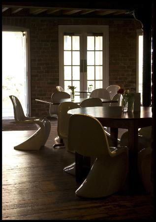 Artichoke: situated in a an old mill building and furnished with Panton chairs