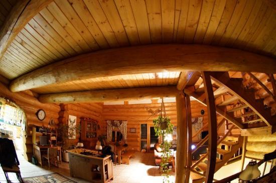A Moose in the Garden: Inside of the B&B - main floor