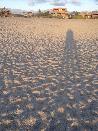 Rancho Pescadero: shadows on the beach