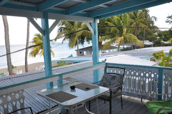 Cottages By The Sea: coconut room balcony, lovely