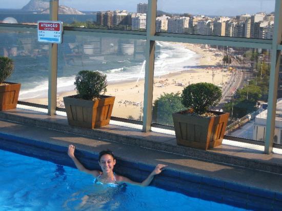 Jw Marriott Hotel Rio De Janeiro Rooftop Pool Overlooking Copa Cabana Beach